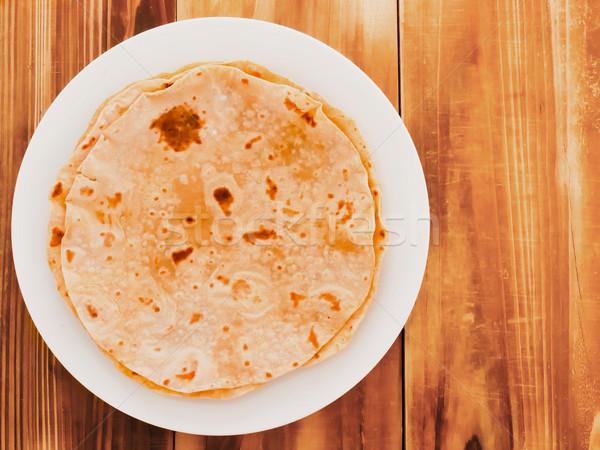 Foto d'archivio: Indian · pane · grano · piatto · bianco