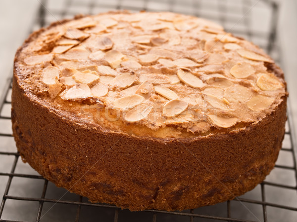 rustic swedish almond cake Stock photo © zkruger