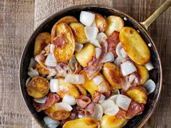 Rustico home patatine grasso vegetali Foto d'archivio © zkruger