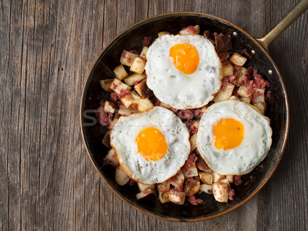 rustic corned beef hash Stock photo © zkruger