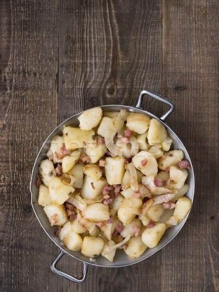 素朴な パン フライド ジャガイモ ホーム ストックフォト © zkruger