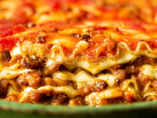 Rustico italiana lasagna pasta alimentare Foto d'archivio © zkruger