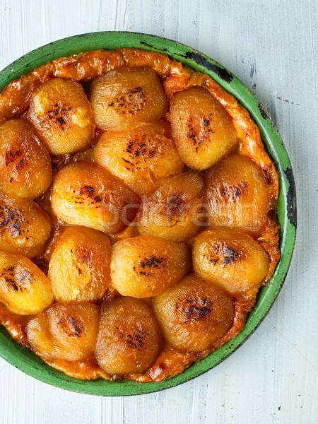 ustic golden french apple tarte tatin Stock photo © zkruger