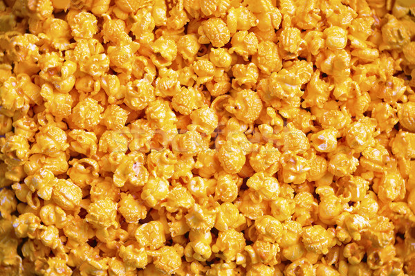 golden cheese popcorn food background Stock photo © zkruger