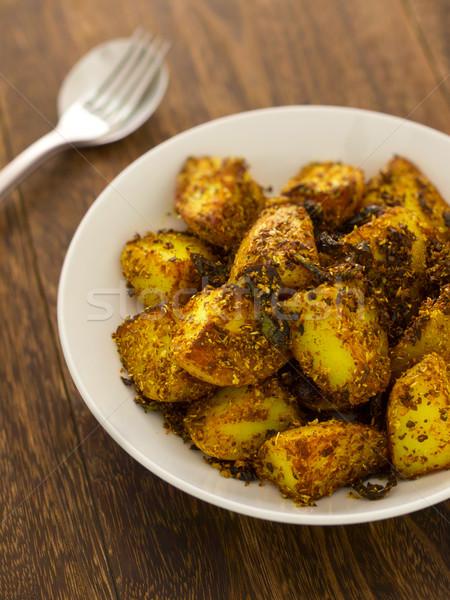 crusty baked potatoes Stock photo © zkruger