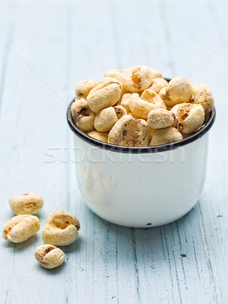 rustic puffed corn snack Stock photo © zkruger