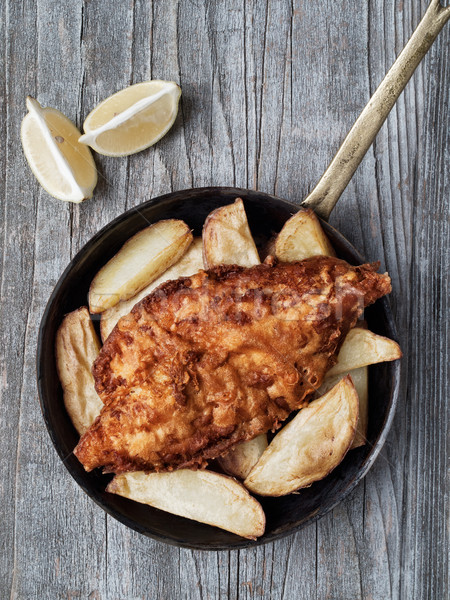 Rustico tradizionale english pesce chip Foto d'archivio © zkruger
