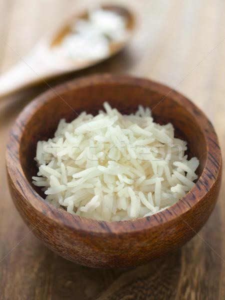 Basmati arroz tigela cor indiano Foto stock © zkruger