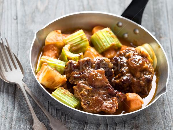 Rustiek brits stoven Rood vlees Stockfoto © zkruger