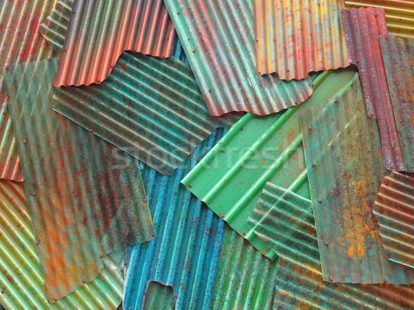 corrugated metal sheets Stock photo © zkruger