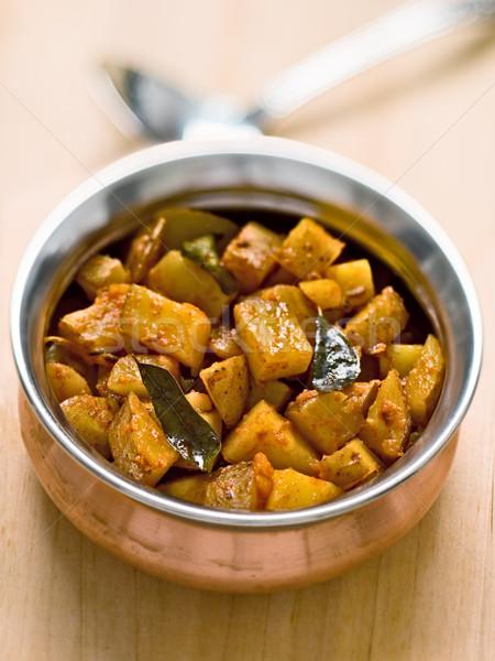 vegetarian indian potato masala curry Stock photo © zkruger