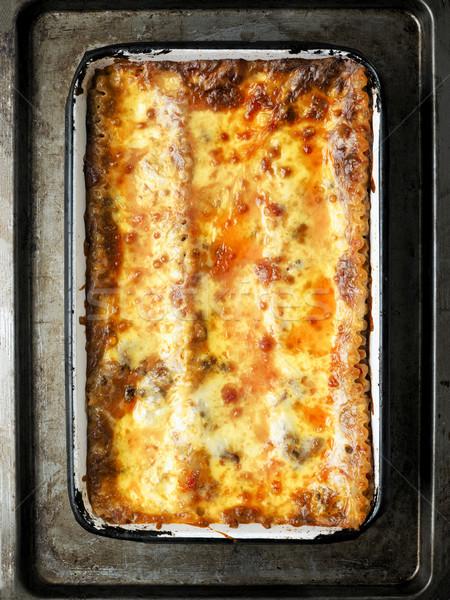 Rustico italiana lasagna alimentare formaggio Foto d'archivio © zkruger