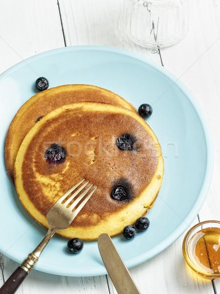 Rustiek gouden pannenkoek kleur Stockfoto © zkruger