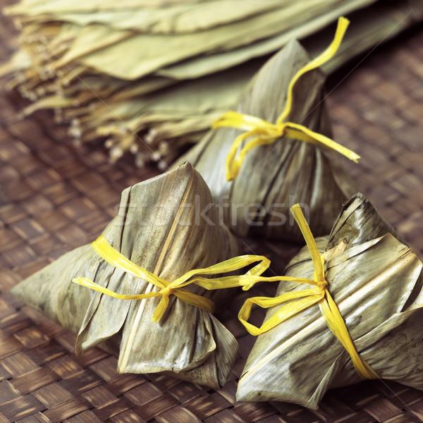 Chinesisch Fleisch Farbe asian Reis Stock foto © zkruger
