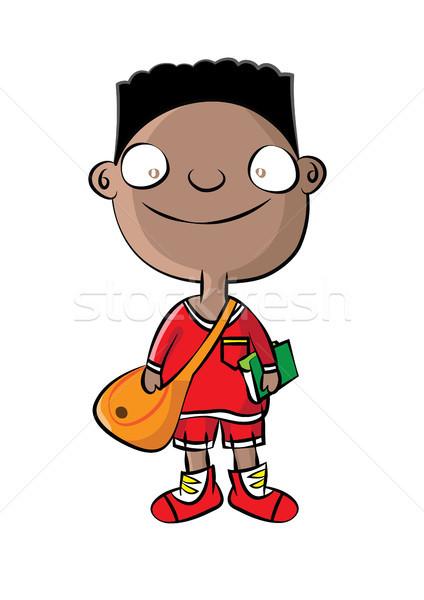 Cute черный школьник школы образование мальчика Сток-фото © zkruger