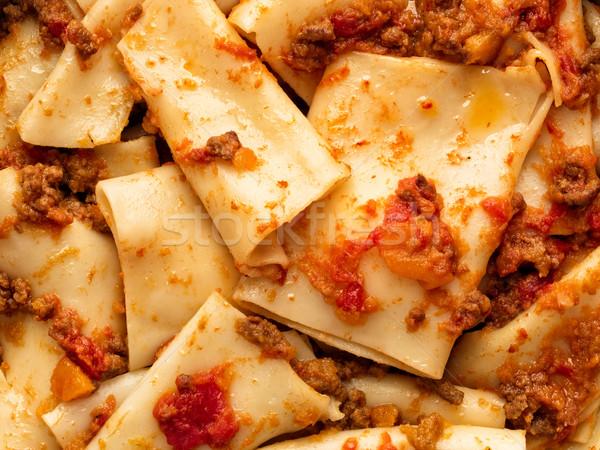 Rustico italiana pasta salsa alimentare Foto d'archivio © zkruger
