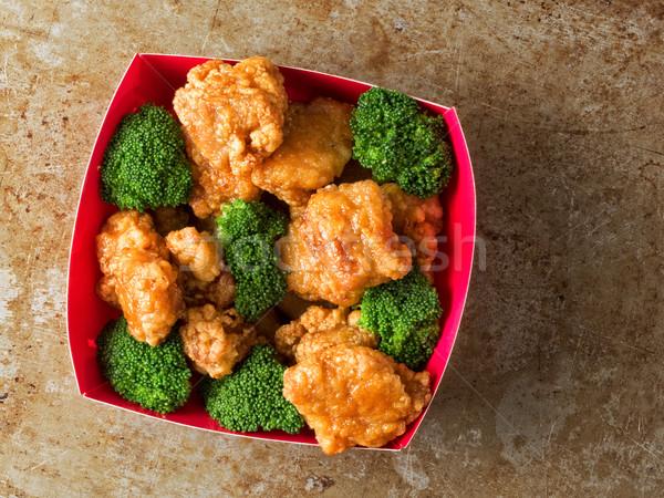 Amerikaanse chinese algemeen kip rustiek Stockfoto © zkruger