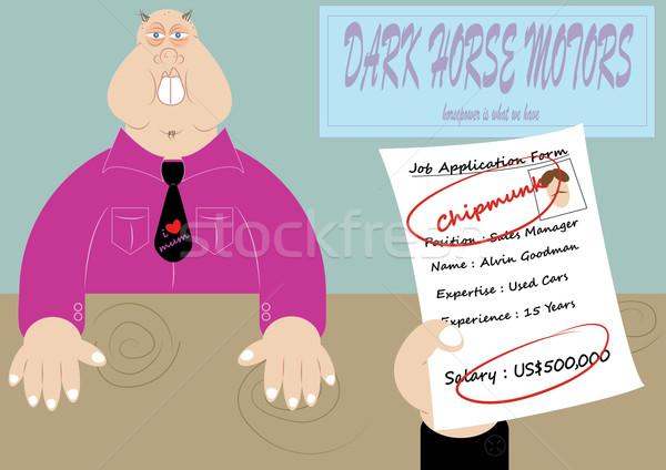 Entrevista de emprego engraçado cena trabalho pesquisar ilustração Foto stock © zkruger