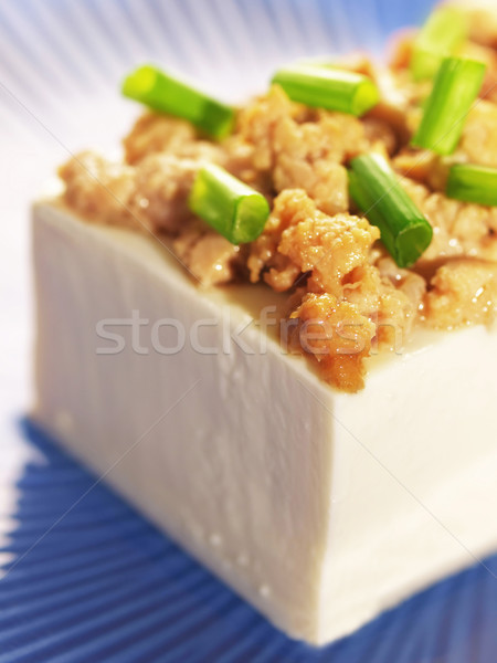 tofu with minced pork Stock photo © zkruger