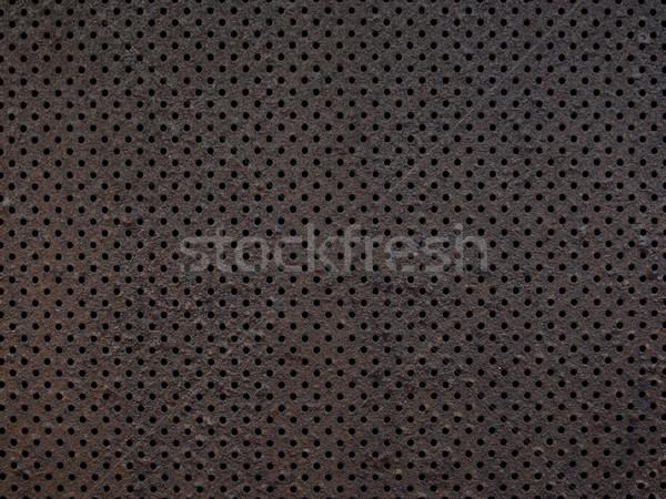 Metal doku arka plan delik yatay Stok fotoğraf © zkruger