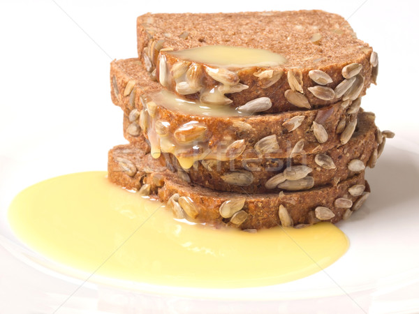 brown bread with sweet condensed milk Stock photo © zkruger