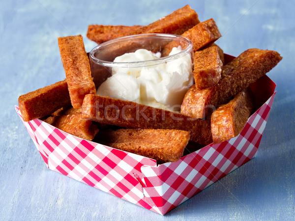 rustic comfort food snack spam fries Stock photo © zkruger