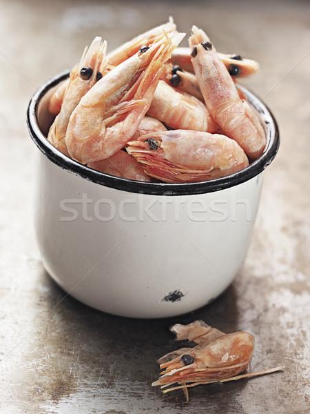 rustic english pub grub pint of prawns Stock photo © zkruger