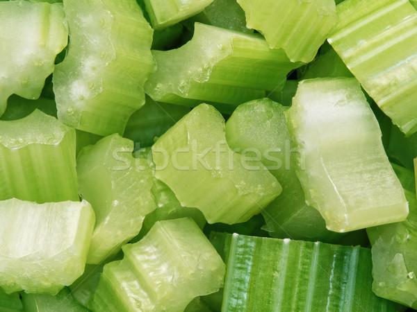 diced cut celery food background Stock photo © zkruger