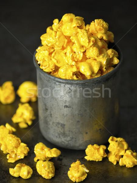 rustic golden cheese popcorn Stock photo © zkruger