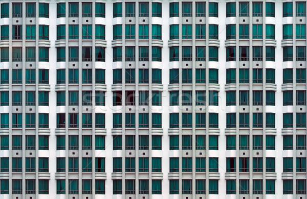 Társasház modern város épület szín Stock fotó © zkruger