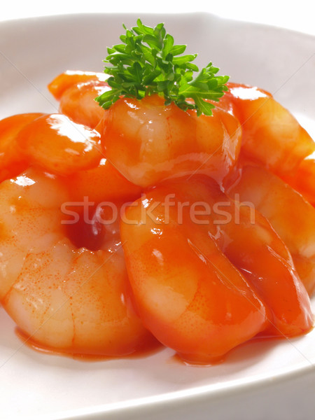 asian fried shrimps Stock photo © zkruger