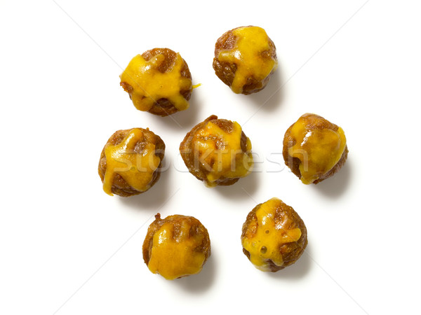 cheesy meat balls Stock photo © zkruger