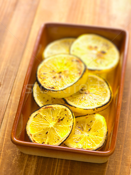 grilled lemon slices Stock photo © zkruger