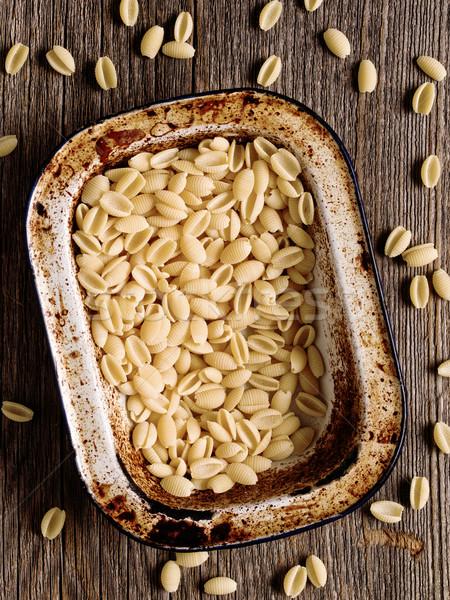 italian rustic uncooked gnocchetti sardi pasta Stock photo © zkruger
