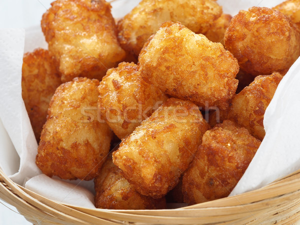 Rustiek gouden aardappel groenten vet Stockfoto © zkruger