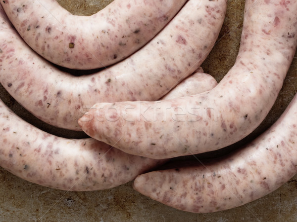 rustic uncooked italian pork sausage Stock photo © zkruger