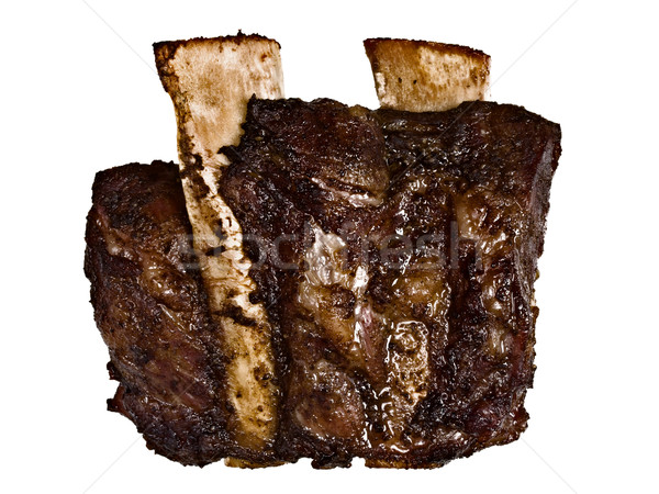 bbq beef short rib isolated Stock photo © zkruger