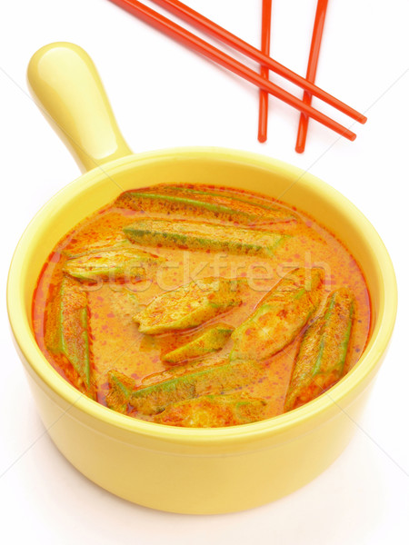asian okra curry Stock photo © zkruger