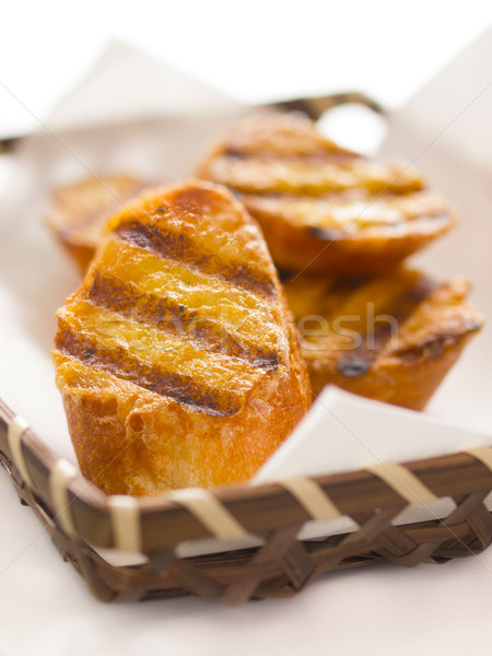 Francia pirítós közelkép kosár étel kenyér Stock fotó © zkruger