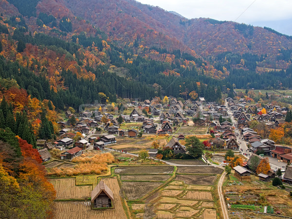 farmhouse at shirakawago Stock photo © zkruger