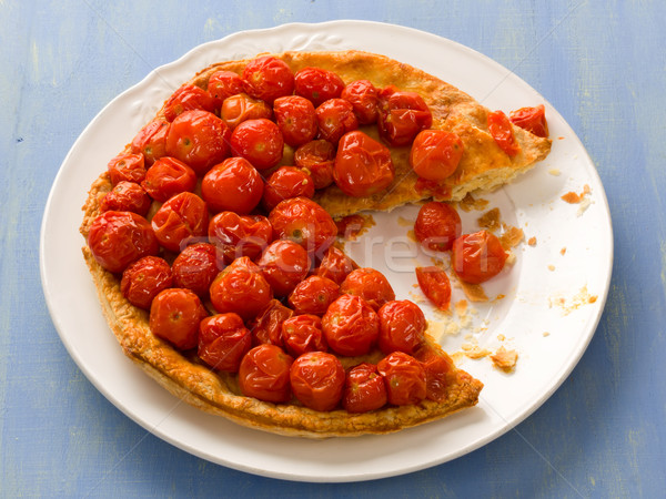 rustic cherry tomato tarte tatin Stock photo © zkruger