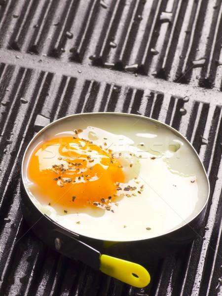 Сток-фото: гриль · куриные · черный · завтрак