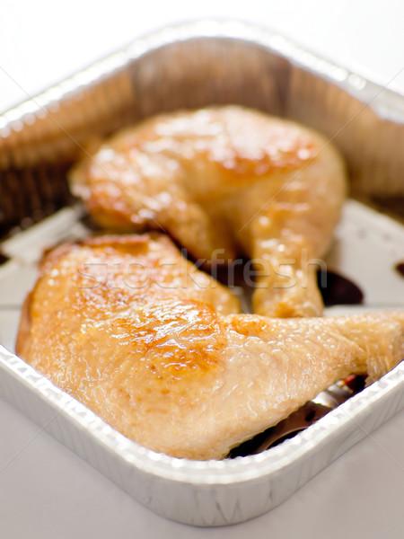 Pieczony kurczak taca żywności grill nogi Zdjęcia stock © zkruger