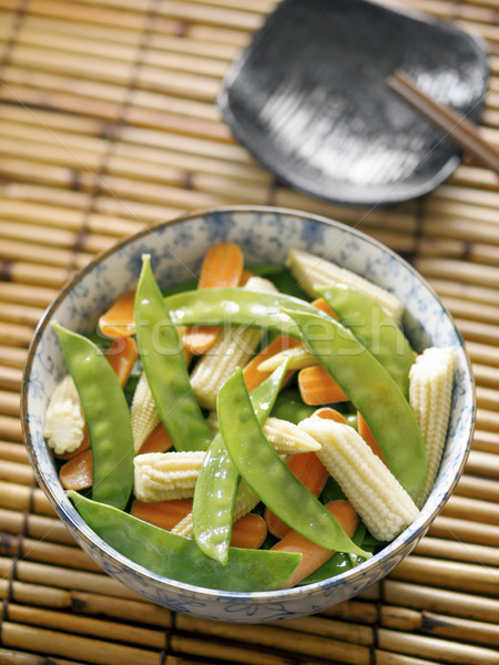 Stock photo: stir fried vegetables