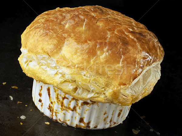 rustic golden english meat pot pie with flaky crust Stock photo © zkruger
