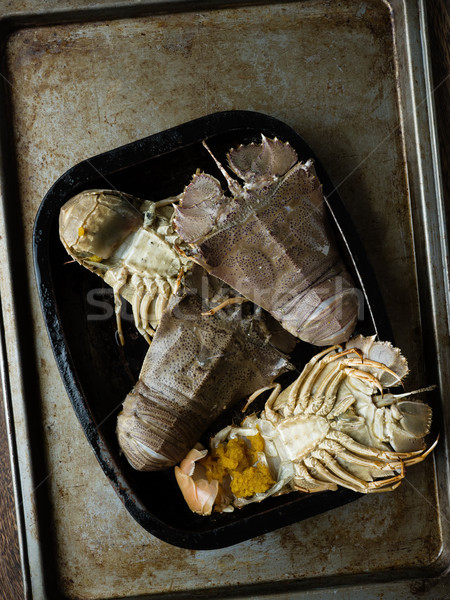 rustic uncooked moreton bay bugs shellfish Stock photo © zkruger