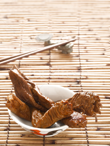 braised pork intestines Stock photo © zkruger