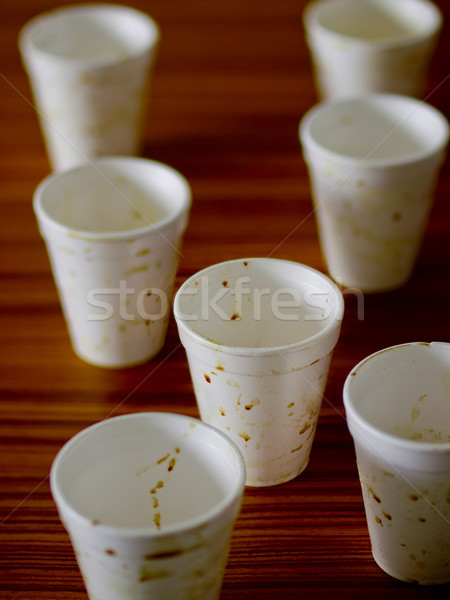 Késő éjszaka üzleti megbeszélés kávéscsészék megbeszélés munka Stock fotó © zkruger