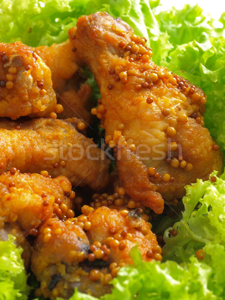 spicy fried chicken wings Stock photo © zkruger