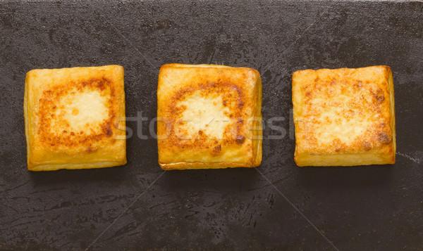 Sült tofu kockák közelkép japán zöldség Stock fotó © zkruger